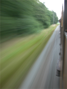 Speeding by...