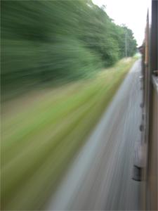 Speeding by...